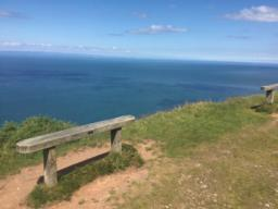 A second chance to take in the views across the Bristol Channel towards South Wales.