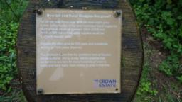 There are many information boards along the path. Each is mounted at an angle on a 0.5m post.