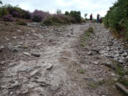 rough stoney path with loose small rocks
