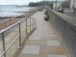Follow this path along the promenade.