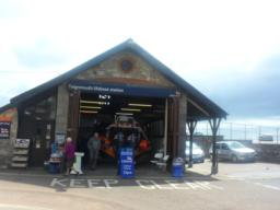 The RNLI lifeboat station was refurbished and reopened in 1991. Now return to where the walk joined the promenade.