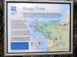 The National Trust interpretation board in the carpark.