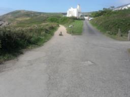 Just before the last house, the Coast Path