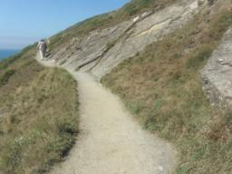 At Pencil Rock, the exposed rock has forced