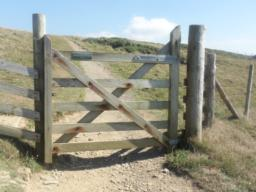 An easy opening one way gate.