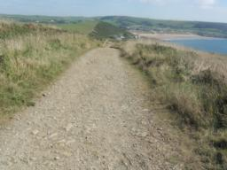 The track continues to steadily descend back