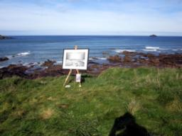 Someone left their painting of Greenaway Beach out for us to view!