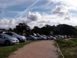 The Daymer Bay car park.