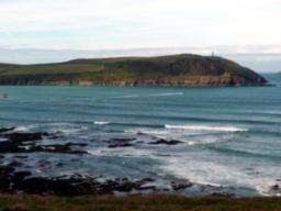 Stepper Point as seen from across the Camel Estuary.