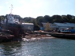 Mashfords Shipyard for been here for over 200 years. Return to the Cremyll Ferry landing stage to complete the walk.