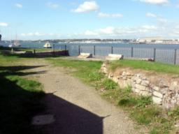 The path gives lovely views across the Tamar.