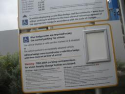parking board, see photo below for details.
