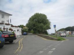 turn right up Hill, note footpath signpost, detailed below.