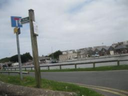 few of signpost looking back towards Canal.
