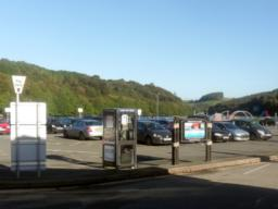 Millpool Car Park, West Looe (PL13 2AF). Fee payable. All Blue Badge users must display a valid blue badge with Time Clock set at time of arrival.
