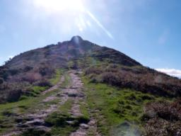 The pathway up to Rame Head Chapel becomes steep at this point. It could be the time to turn around!