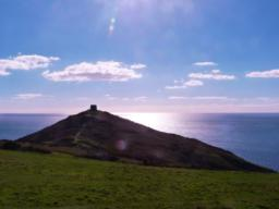 Turn right and head back to the car park. Rame Head is ever present to your right!