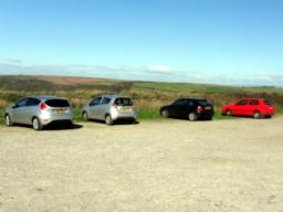The car park at Rame Head.