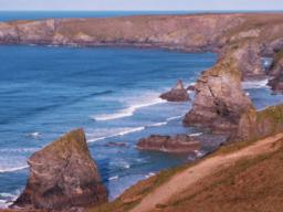 A view of Bedruthan Steps.