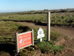 Turn round here just past Carnewas Point and follow the path back towards Bedruthan Steps.