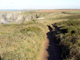 The path is narrow - less than a metre in places.