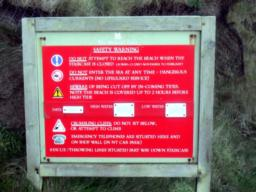 The steep staircase to the beach is closed from November to February.