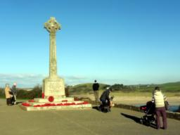 The War Memorial provides wide-ranging views over the Camel Estuary.