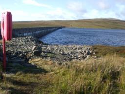 View across dam