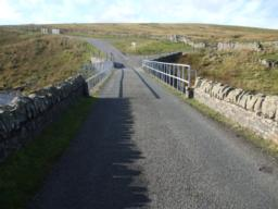 End of the outward route. Beyond the bridge is the continuation of the Pennine way