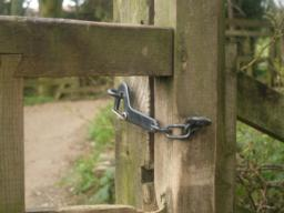 This is typical of the latches you will find all along the path.