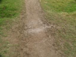 The path may be muddy after wet weather.