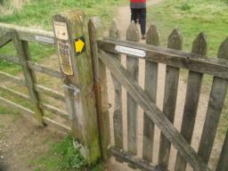 This is the first of 16 gates along the route. All are wider than 1 metre and have latches that can be reached from both sides.