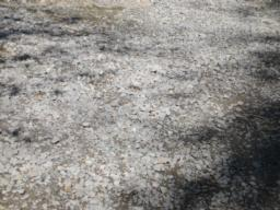 Loose gravel/stone surface