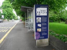 Bus stop as well as an information board with local history.