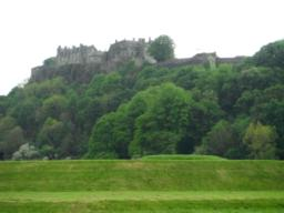 View over the King's Knot to Stirling Castle.