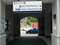 Stirling railway station exit.