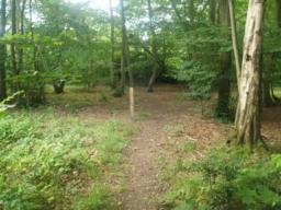 The path is way marked. Look out for the posts with the red Admiral Trail arrow.