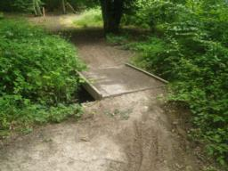 The small bridges over ditches are all over a metre wide.