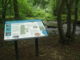An information board by the pond has a map and tells you about the wood and it's wildlife.