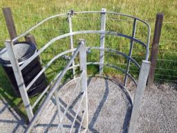 Kissing gate is not wheel chair accessible to the broch itself