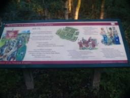 The information board explains a little of the story of the Roman earthworks.