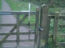 The gate has an easy to operate latch and is self closing.