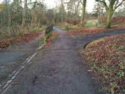 Keep straight on to retrace your original path back to entrance, turn left on road to get back to car park