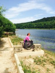 Accessible viewpoint and fishing platform