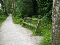 1st bench is a 250 metres into route.