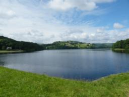 Excellent views from dam wall towards Bradfield.