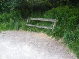 Benches at periodic distance along path
