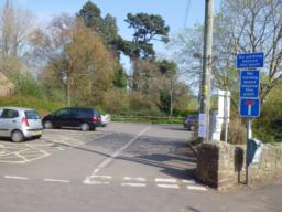 There is a much smaller car park as the road bears to the left after 100m.