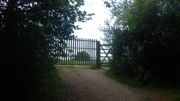 ...to re-enter the enclosure through another large gate, known as Carhampton Gate.