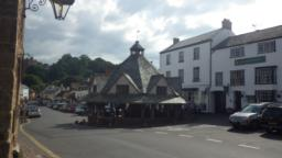 The main road continues through the centre of Dunster and passes several cafes and restaurants before coming to the Yarn Market.  This is a mediaeval structure where wool was once traded.